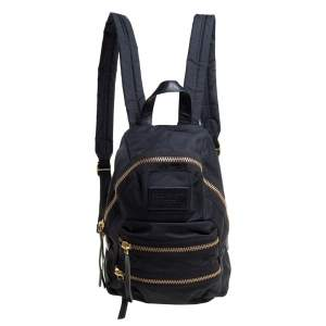 Marc by Marc Jacobs Black Nylon and Leather Biker Backpack