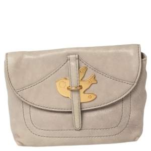 Marc By Marc Jacobs Grey Leather Petal To The Metal Pouch