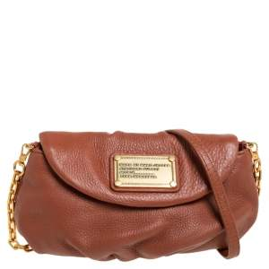 Marc By Marc Jacobs Brown Leather Classic Q Karlie Crossbody Bag