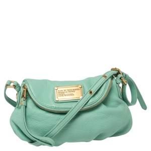 Marc by Marc Jacobs Mint Green Leather Mini Q Natasha Shoulder Bag