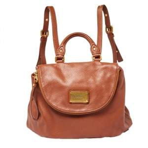 Marc by Marc Jacobs Brown Classic Q Mariska Leather Backpack