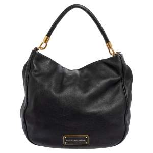 Marc by Marc Jacobs Black Leather Too Hot To Handle Hobo