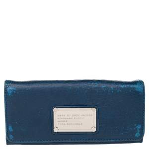 Marc by Marc Jacobs Blue Leather Flat Wallet