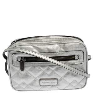 Marc by Marc Jacobs Silver Leather Sally Crossbody Bag