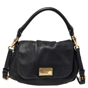 Marc by Marc Jacobs Black Soft Leather Classic Q Lil Ukita Top Handle Bag