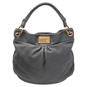 Marc by Marc Jacobs Grey Leather Classic Q Hillier Hobo
