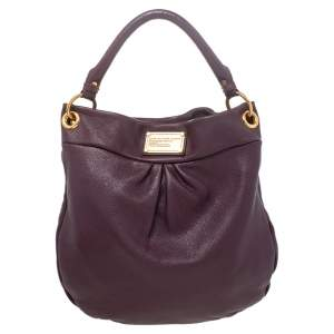 Marc by Marc Jacobs Burgundy Leather Classic Q Hillier Hobo Bag