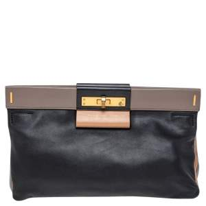 Marc by Marc Jacobs Tricolor Suede And Leather East End Lady Rei Clutch