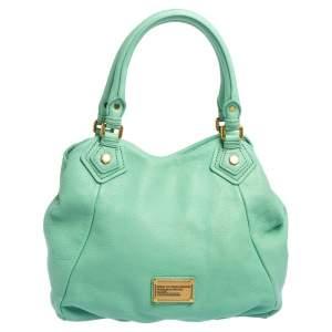 Marc by Marc Jacobs Aquamarine Green Leather Classic Q Francesca Shoulder Bag