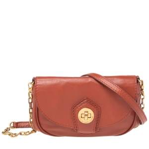 Marc by Marc Jacobs Brown Leather Flap Crossbody Bag