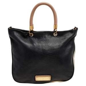 Marc by Marc Jacobs Black/Cream Leather Too Hot to Handle Tote