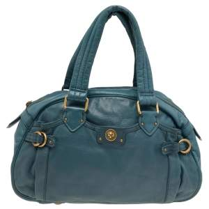 Marc by Marc Jacobs Teal Leather Totally Turnlock Benny Satchel