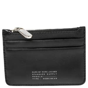 Marc by Marc Jacobs Black Leather Zip Card Holder