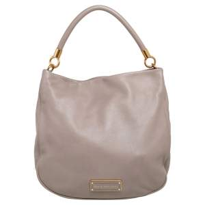 Marc by Marc Jacobs Grey Soft Grained Leather Too Hot to Handle Hobo