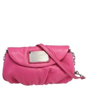 Marc by Marc Jacobs Pink Leather Classic Q Natasha Crossbody Bag
