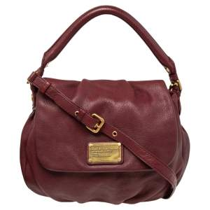 Marc by Marc Jacobs Burgundy Leather Classic Q Lil Ukita Top Handle Bag