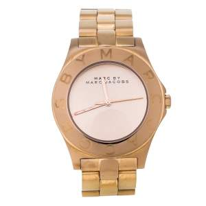 Marc By Marc Jacobs Rose Gold Tone Stainless Steel Blade MBM3127 Women's Wristwatch 36 mm