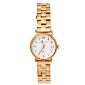 Marc by Marc Jacobs White Gold Tone Stainless Steel MBM3248 Women's Wristwatch 28 mm
