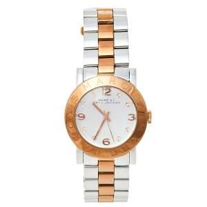 ساعة يد نسائية  مارك باي مارك جاكوبس أمي MBM3194 ستانلس ستيل ثنائي اللون فضية 36 مم