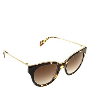 Marc Jacobs Brown Tortoise Gradient Marc 165/S Twisted Temple Cat Eye Sunglasses