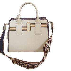 Marc Jacobs Beige Leather Little Big Shot Tote Bag