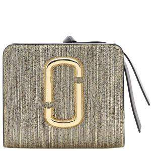 Marc Jacobs Gray Leather The Snapshot Mini Wallet
