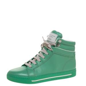 Marc Jacobs Green Leather High Top Sneakers Size 40