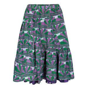 Marc Jacobs Multicolor Printed Ruffle Bottom Layered Skirt XS
