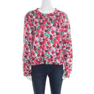 Marc Jacobs Multicolor Floral Print Sweatshirt M