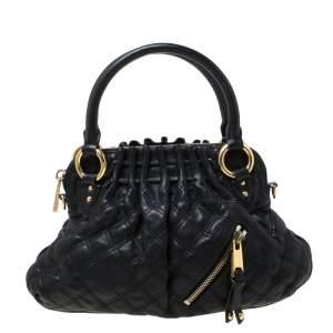 حقيبة مارك جاكوبس سيسيليا صغيرة جلد مبطن أسود