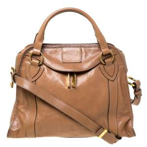 Marc Jacobs Brown Leather Wellington Fulton Satchel