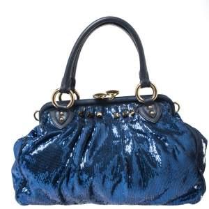 حقيبة كتف مارك جاكوبس نيويورك روكر ستيم ترتر زرقاء