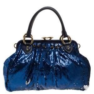 "حقيبة كتف مارك جاكوبس ""نيويورك روكر ستام"" ترتر أزرق"