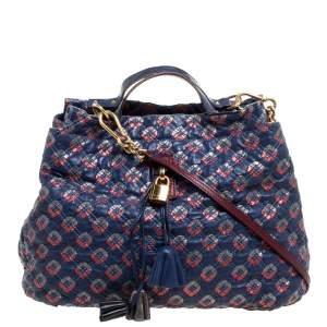Marc Jacobs Blue/Metallic Quilted Leather Memphis Robert Jena Shoulder Bag