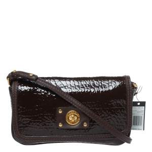 Marc Jacobs Dark Brown Patent Leather Shoulder Bag