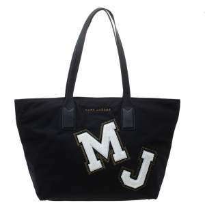 Marc Jacobs Black Nylon and Leather MJ Shopper Tote