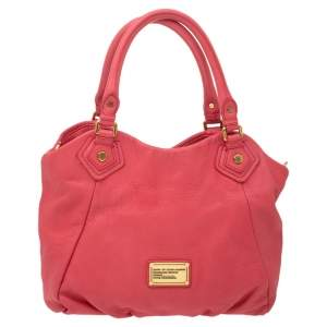 Marc Jacobs Pink Leather Classic Q Fran Shoulder Bag