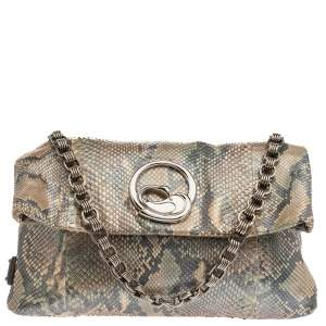 Marc Jacobs Multicolor Python Fold Over Shoulder Bag
