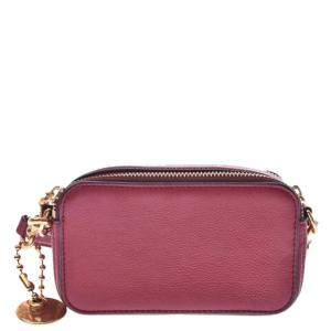 Marc Jacobs Red Leather Camera Shoulder Bag