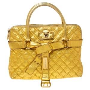 حقيبة مارك جاكويس ألينا جلد ذهبي مبطن