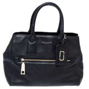Marc Jacobs Black Leather Gotham East West Tote