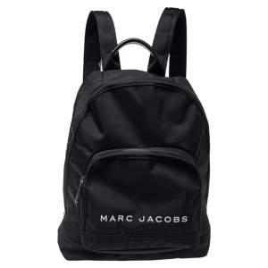 حقيبة ظهر مارك جاكوبس شعار كلاسيك نايلون أسود