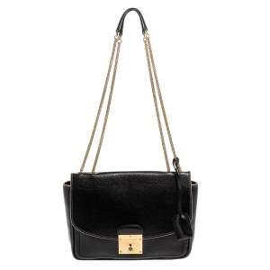 Marc Jacobs Black Leather Polly Shoulder Bag