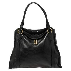 Marc Jacobs Black Leather Wellington Fulton Satchel