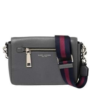 Marc Jacobs Grey Leather Small Gotham Crossbody Bag