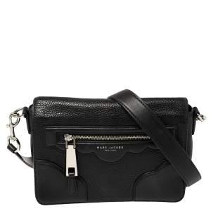 Marc Jacobs Black Leather Small Haze Shoulder Bag