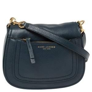 Marc Jacobs Blue Leather Recruit Nomad Saddle Bag