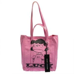 Peanuts x Marc Jacobs Pink Canvas The Tag Tote