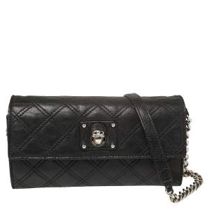 Marc Jacobs Black Quilted Leather Ginger Crossbody Bag