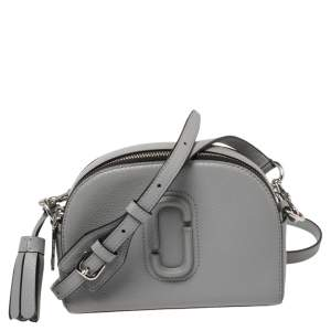 Marc Jacobs Grey Leather Small Shutter Camera Crossbody Bag